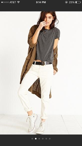coat brown denim denim jacket hipster indie grunge jacket parka denim parka utility jacket jeans