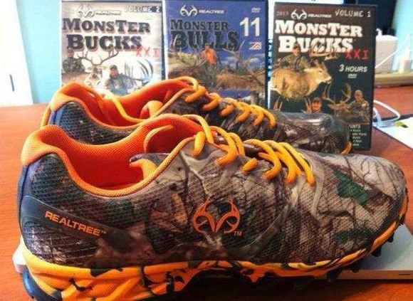 shoes camo realtree mens shoes orange men