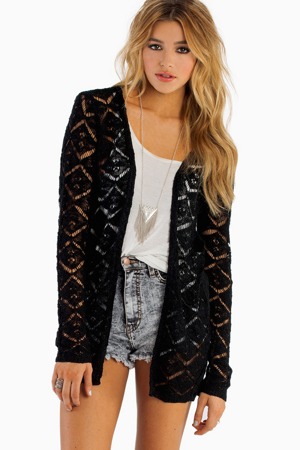 Makes Me Wanna Lace Cardigan - Tobi