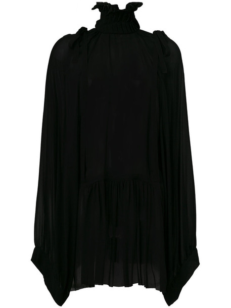 ANN DEMEULEMEESTER blouse oversized high women high neck black top