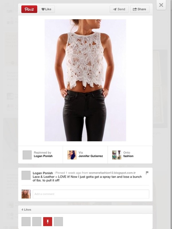 blouse white lace tank top crop tops black jeans black skinny jeans