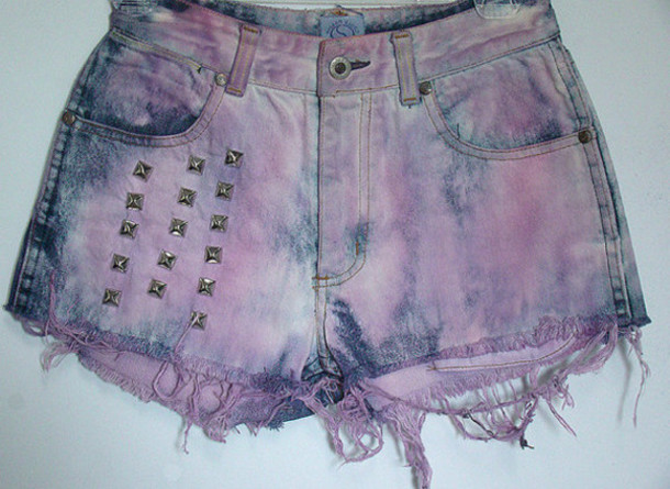 shorts disstressed pastell goth
