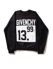 sweater,givenchy,black,white