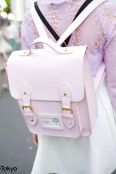 bag pastel bag backpack long strap bag