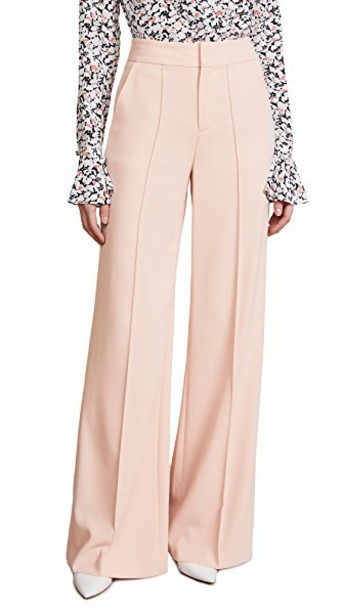 alice + olivia pants high waisted high blush