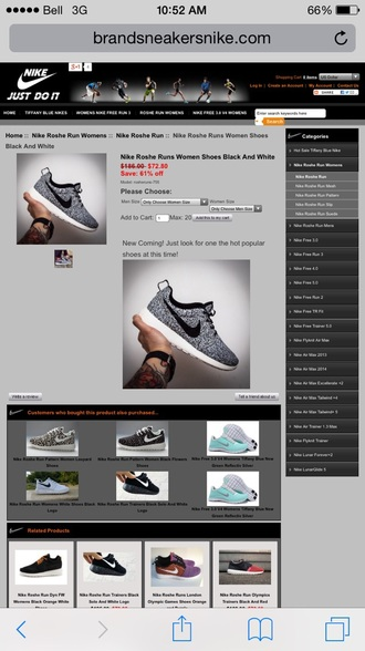shoes nike roshe run black and white speckled nike running shoes