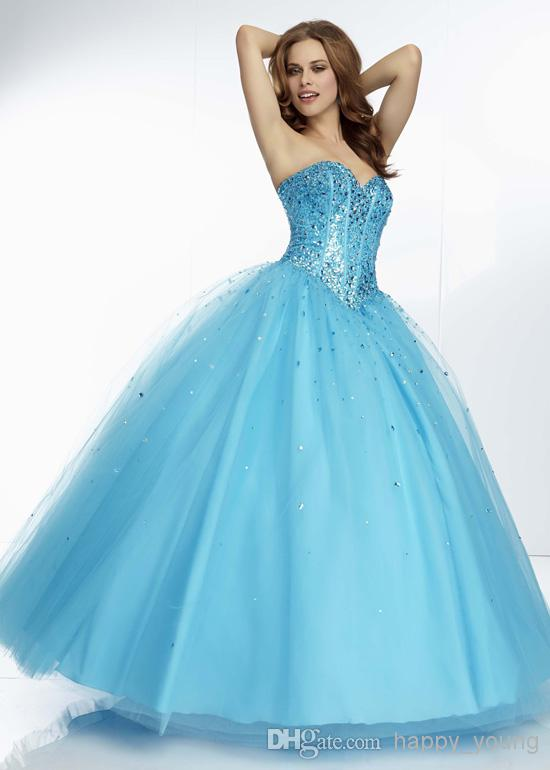 2014 Sweetheart Sparkly Beaded Sequins Top Sexy Ball Prom Dresses | Buy Wholesale On Line Direct from China