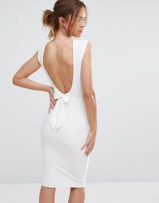 Club L Bow Back Midi Dress at asos.com