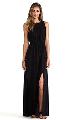 AG Adriano Goldschmied Sway Maxi Dress in True Black | REVOLVE