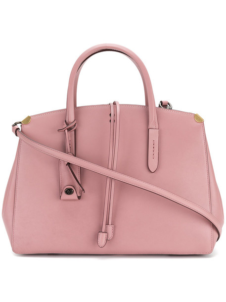 coach women bag leather purple pink