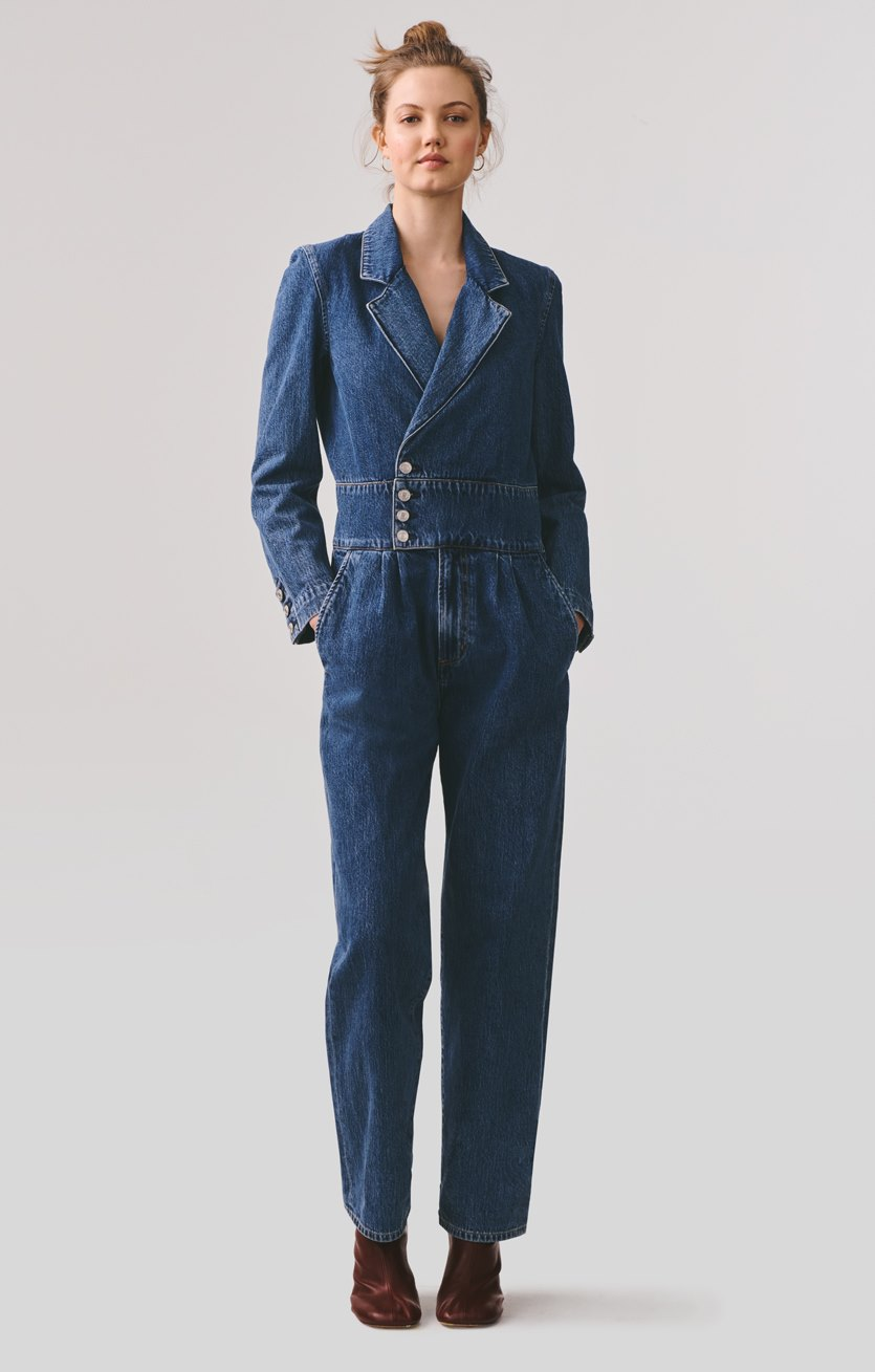 Luca Blazer Jumpsuit in Media