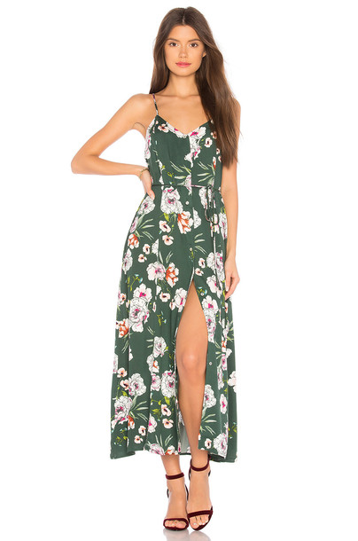 Somedays Lovin dress midi dress midi green