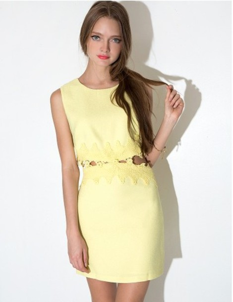 dress yellow yellow dress cute summer dress spring