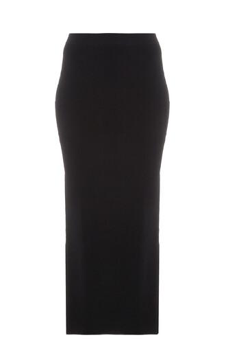 skirt split skirt side split black