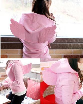 pink kawaii hoodie kpop harajuku cute