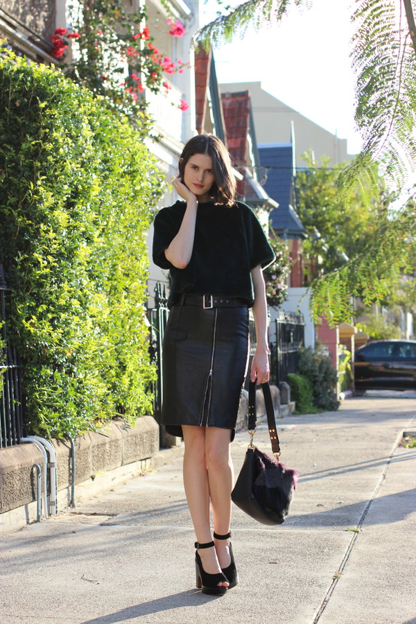 by chill top skirt bag shoes