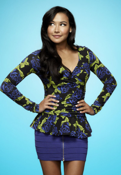 glee blouse flowers celebrities