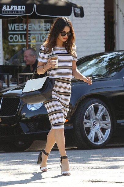 dress vanessa hudgens stripes shoes