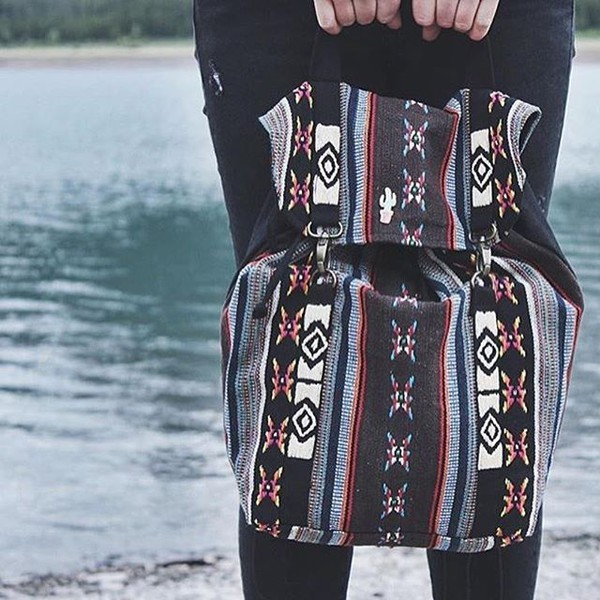 bag tribal pattern boho travel holidays lovesttich backpack native american bohemian adventure time adventures in fashion colorful multicolor travel bag beautiful