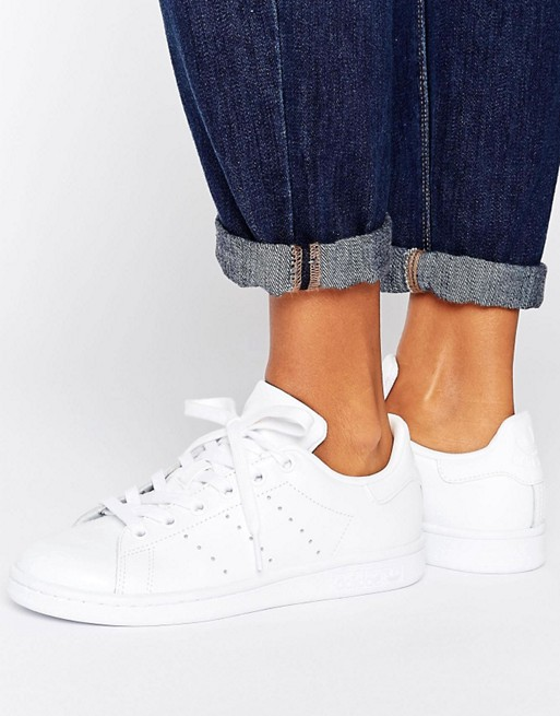 release date: 0c27c ac656 adidas Originals All White Stan Smith Sneakers at asos.com