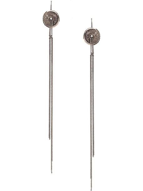 ANN DEMEULEMEESTER women earrings silver grey metallic jewels