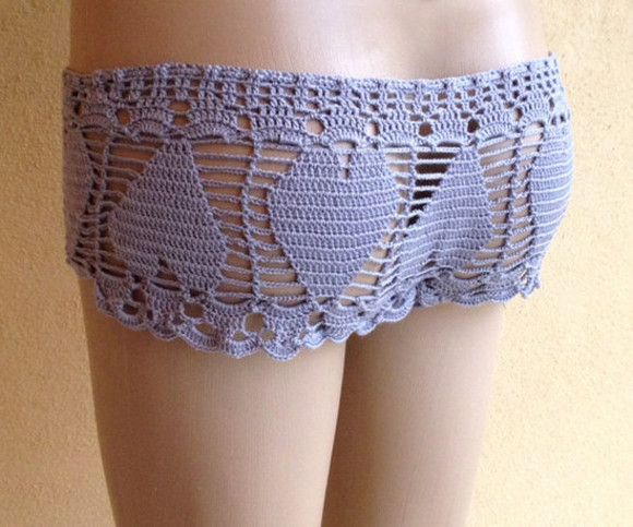 swimwear bikini crochet bikini bottoms crochet bikini sexy summer outfits beach summer 2014 shorts lace lace shorts beach shorts gray shorts