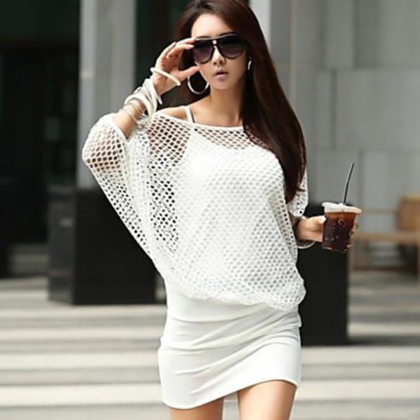 dress sexy white bodycon dress