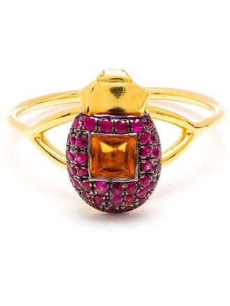 ring purple pink jewels