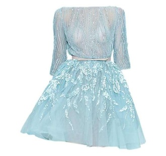 dress leighton meester blue dress glitter dress gossip girl wedding clothes light blue cocktail dress prom dress elegant dress