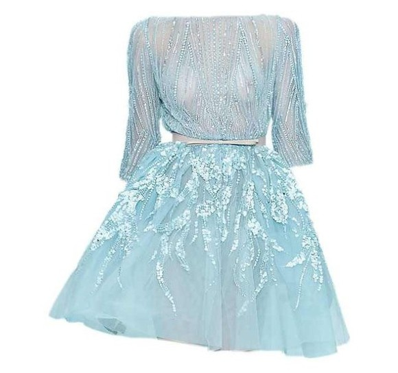 gossip girl leighton meester blair waldorf dress prom dress blue dress glitter dress clothes: wedding wedding dress light blue cocktail dresses elegant dress