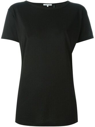 t-shirt shirt back open open back black top