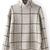 Beige Plaid Sweater with High Neck - Sheinside.com