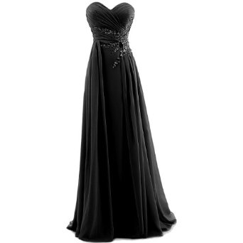 Amazon.com: Dresstells Women's Sweetheart Beading Floor-length Chiffon Prom Dress: Clothing