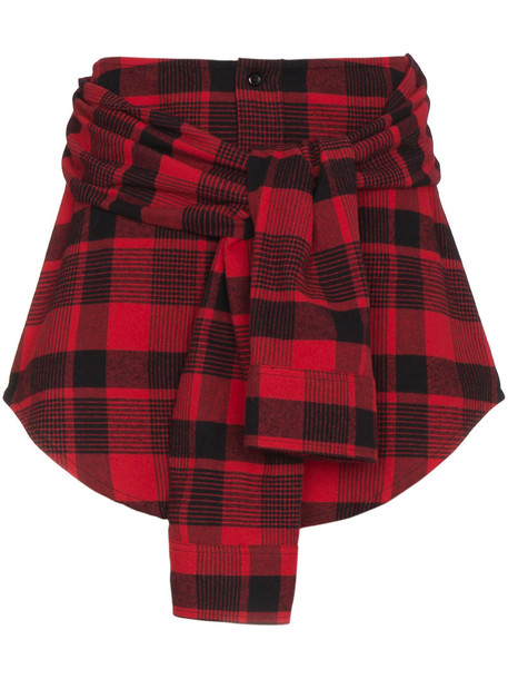 Adaptation skirt mini women cotton red
