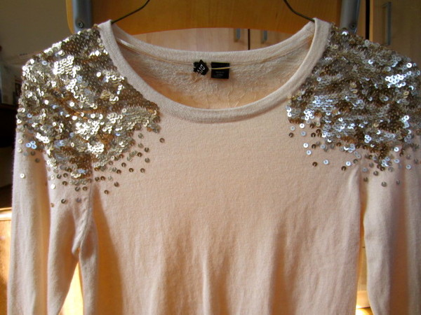 shirt sequins gold sequins sweater pullover knitted sweater