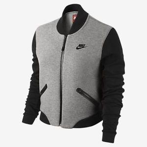 Nike Womens Tech Fleece 3mm Bomber Jacket 617192 063 Size Large 670d74ba3
