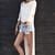 Vestido-Camiseta largos desiguales – Mekkdes