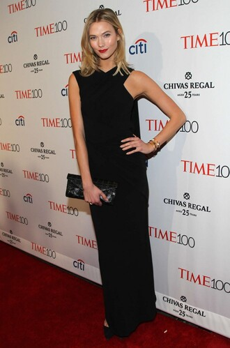 dress gown black dress maxi dress karlie kloss shoes pumps