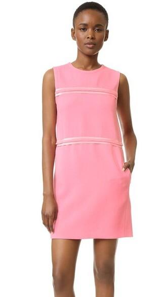 dress shift dress candy pink
