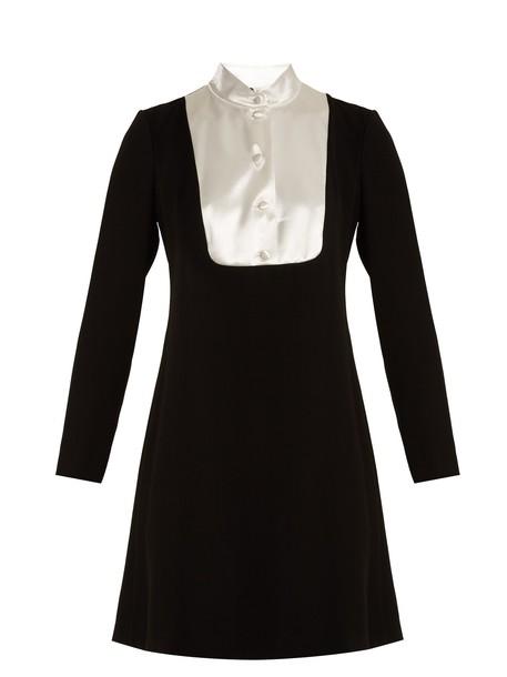 lanvin dress satin white black
