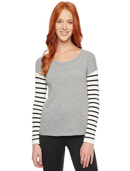 106b06b0b49 Stripe Sleeve Sweater