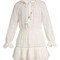 Tulsi broderie-anglaise cotton-blend dress