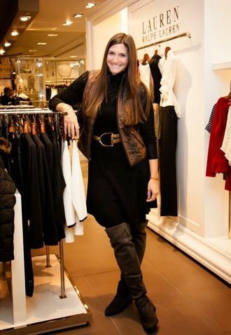 fashion foie gras blogger sweater dress jacket belt