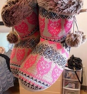 shoes,booties,owl,furry boots,fluffy,sweater boots