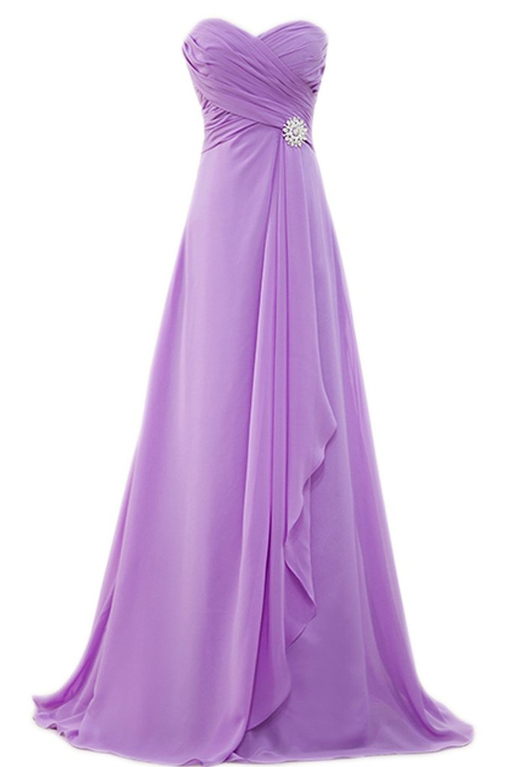 PrettyDresses Women\'s Long Purple Prom Party Dresses Bridesmaid ...