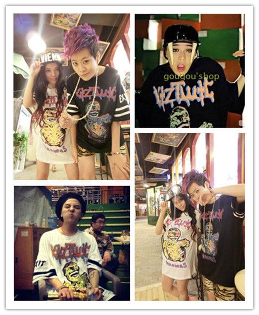 Kpop Bigbang GD G-Dragon Zombie Printed Tee Unisex T-Shirt Free Size NEW