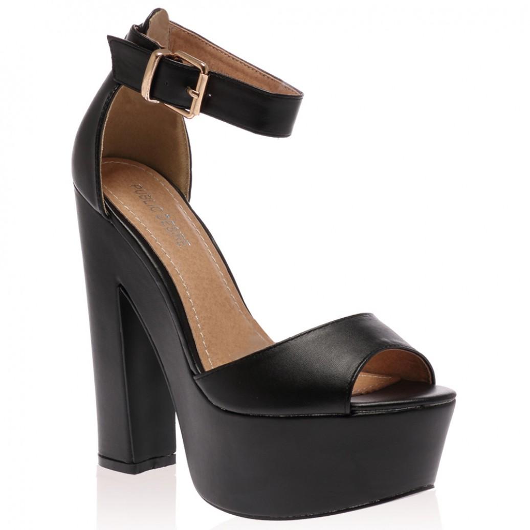 Platform Black High Heels