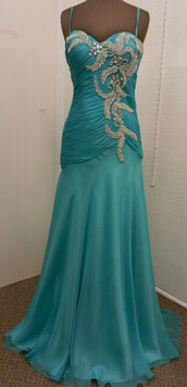 teal dress,teal prom dress,ruched,silver,silver beading,teal and silver,spaghetti strap,prom,prom dress,satin,chiffon,tulle skirt,teal,silver embellishments,floor length dress,dress