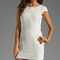 Renzo   kai lola-lola silk cap sleeve dress in white/white from revolveclothing.com