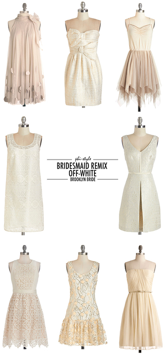bklyn bride blogger bridesmaid dress white dress